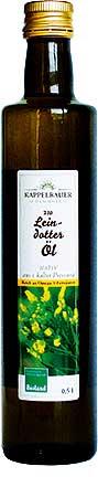 Leindotter-Öl-Flasche