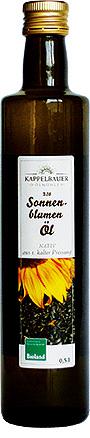 Bio Sonnenblumenöl-Flasche